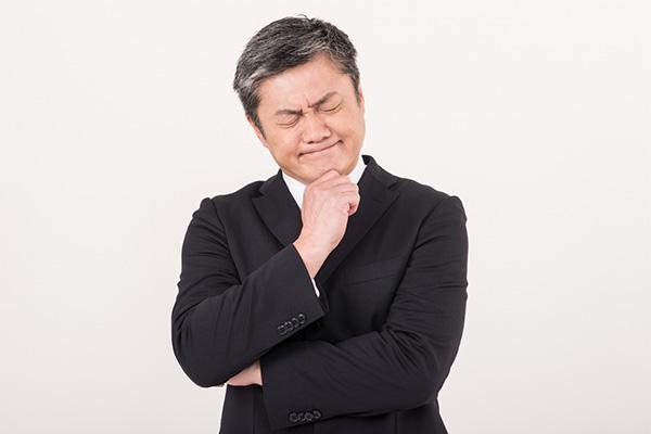 加齢臭で悩む男性